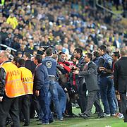 Gaziantepspor's players (C) during their Turkish superleague soccer match Fenerbahce between Gaziantepspor at the Sukru Saracaoglu stadium in Istanbul Turkey on Saturday 16 April 2011. Photo by TURKPIX