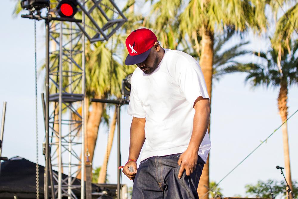 Ghostfast Killah performing at Coachella in Indio, CA on April 10, 2015.