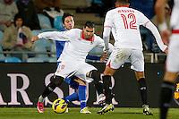 19.01.2013 SPAIN -  La Liga 12/13 Matchday 20th  match played between Getafe C.F. vs Sevilla Futbol Club (1-1) at Alfonso Perez stadium. The picture show Jose Antonio Reyes Calderon (Spanish Forward of Sevilla F.C.)