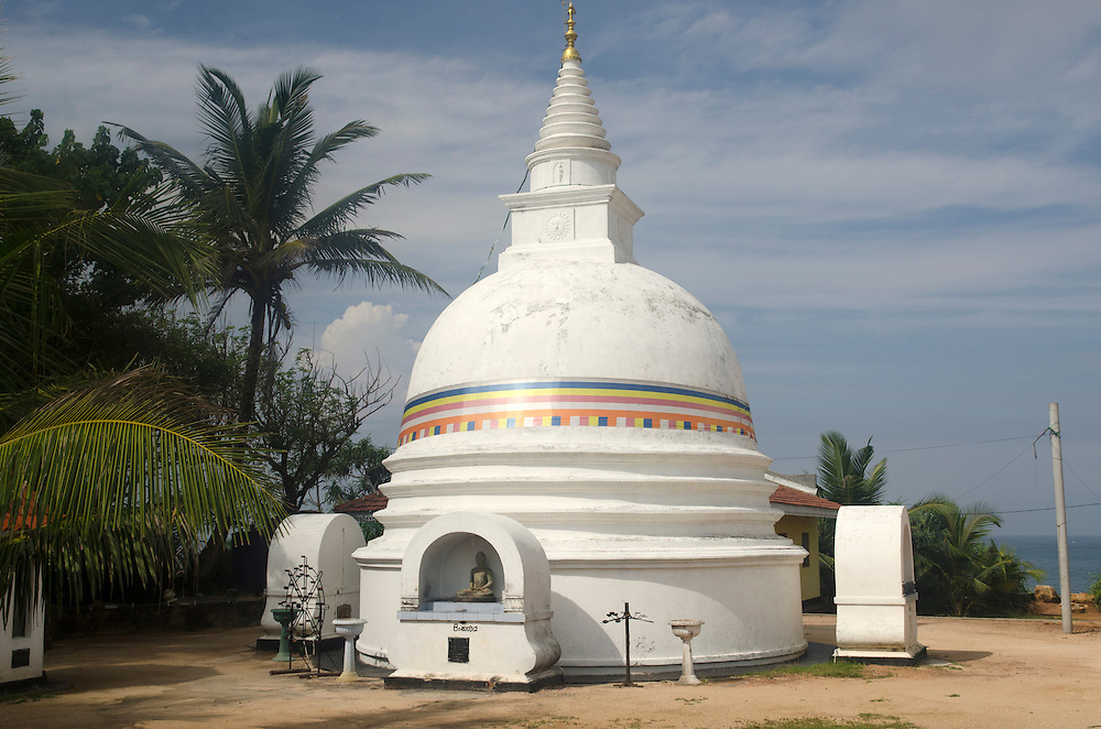 A buddha's temple in Unawatuna, Sri Lanka