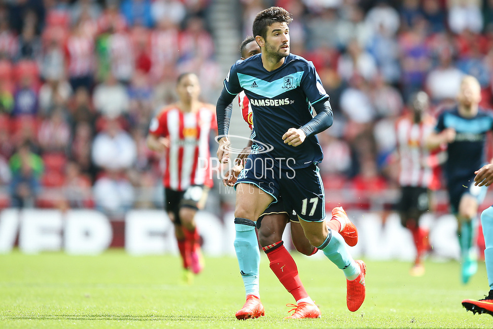 \Middlesbrough defender Antonio Barragan (17)  during the Premier League match between Sunderland and Middlesbrough at the Stadium Of Light, Sunderland, England on 21 August 2016. Photo by Simon Davies.