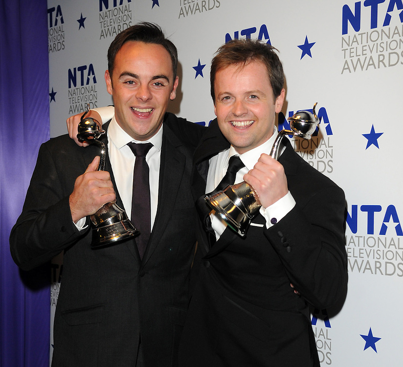 National Television Awards , at the 02 London .ant and dec double winners .Pix Dave Nelson