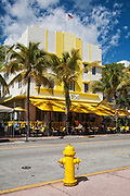 Cafe on Ocean Drive, South Beach, Miami Beach, Florida, USA