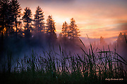 Walton Lake is a sweet little lake  in the Ochoco National Forest, Oregon.  After a sudden evening storm of hail, wind and fierce rain, the evening closed with a perfect sunset complete with mist of the water and plenty of color.