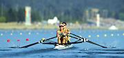 Sydney. AUSTRALIA. 2000 Summer Olympic Regatta, Penrith. NSW.  <br /> <br /> AUS LM2X. Bow: Haimish Karrasch  and Str: Bruce Hick.<br /> <br /> <br /> [Mandatory Credit Peter SPURRIER/ Intersport Images] Sydney International Regatta Centre (SIRC) 2000 Olympic Rowing Regatta00085138.tif