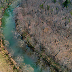 The Hughes River in the Hughes River Wildlife Management Area near Walker, West Virginia. Spring.