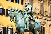 Equestrian statue of Cosimo I in Piazza della Signoria, Florence, Tuscany, Italy