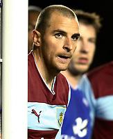 Football - The Championship- Leicester  v Burnley-Burnley Goal scorer Dean Marney at The King Power Stadium
