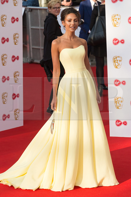 © Licensed to London News Pictures. 13/05/2018. London, UK. MICHELLE KEEGAN arrives for the Virgin TV British Academy (BAFTA) Television Awards. Photo credit: Ray Tang/LNP