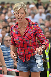 © Licensed to London News Pictures. 24/07/2021. London, UK. Broadcaster KATIE HOPKINS makes a speech at an anti lockdown and anti Covid rally in Trafalgar Square as part the the World Wide Rally for Freedom. Photo credit: Ray Tang/LNP