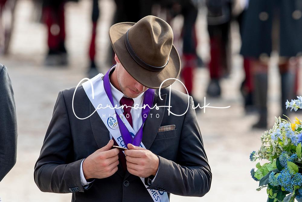 Team BEL, Degrieck Dries, Geerts Glenn, Simonet Edouard, Wentein Mark<br /> World Equestrian Games - Tryon 2018<br /> © Hippo Foto - Dirk Caremans<br /> 23/09/2018