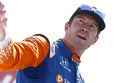April 13, 2018 - Long Beach, California, United States of America - April 13, 2018 - Long Beach, California, USA: Scott Dixon (9) hangs out on pit road and talks to some people following practice for the Toyota Grand Prix of Long Beach at Streets of Long Beach in Long Beach, California. (Credit Image: © Justin R. Noe Asp Inc/ASP via ZUMA Wire)