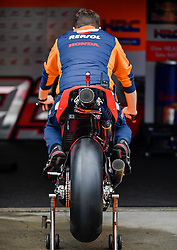 October 26, 2018 - Melbourne, Victoria, Australia - A mechanic warms up the bike belonging to Spanish rider Marc Marquez (#93) of Repsol Honda Team during day 2 of the 2018 Australian MotoGP held at Phillip Island, Australia. (Credit Image: © Theo Karanikos/ZUMA Wire)