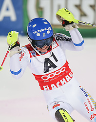 13-01-2015 AUT: Alpine Skiing World Cup, Flachau<br /> Winner Frida Hansdotter of Sweden celebrate after her 2nd run of the ladie's Slalom of the FIS Ski Alpine World Cup at the Hermann Maier Weltcupstrecke in Flachau, Austria<br /> <br /> ***NETHERLANDS ONLY***