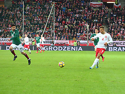 November 13, 2017 - Gdansk, Poland - Thiago Cionek, Oribe Peralta during the international friendly soccer match between Poland and Mexico at the Energa Stadium in Gdansk, Poland on 13 November 2017  (Credit Image: © Mateusz Wlodarczyk/NurPhoto via ZUMA Press)