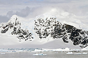 Landscape of Cuverville Island, Antarctica