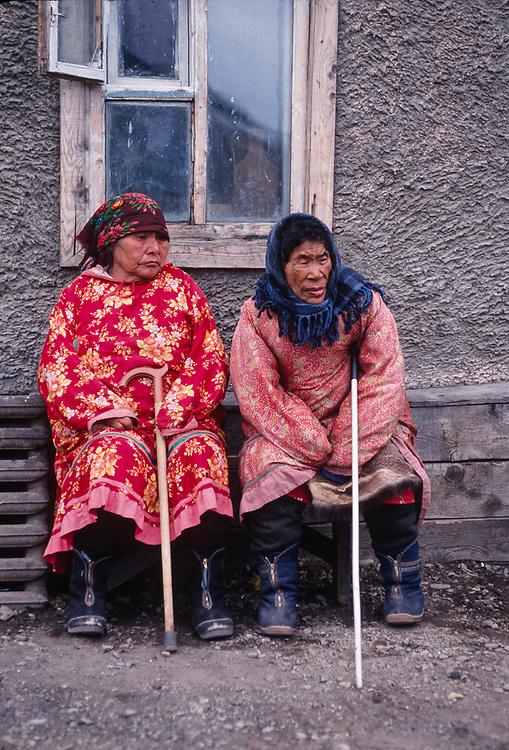Women elders, Town of Lorino, Chukotsk Peninsula, NE Russia 1992