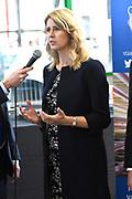 Koning Maxima is aanwezig bij de presentatie van het jaarbericht 2017 Staat van het MKB op de Dag van de Ondernemer bij familiebedrijf Octatube. Ze bezoekt de presentatie als lid van het Nederlands Comite voor Ondernemerschap en Financiering.<br /> <br /> Queen Maxima attends the presentation of the annual report 2017 State of SMEs on the Day of the Entrepreneur at family business Octatube. She attends the presentation as a member of the Dutch Committee for Entrepreneurship and Financing.