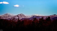 """The Blur Ridge reaveals a """"frosting"""" of snow on a bright sunny morning."""