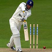 Durham's G. J. Pratt in action batting