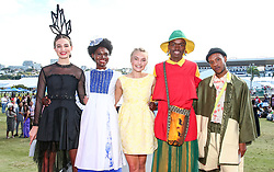 Durban. 070718. Fashion Theme for the 2018 Vodacom Durban July. - It Is Time - Every year a new theme is released to get the creative juices of the visitors and fashion desighners flowing. Picture Leon Lestrade. African News Agency/ANA. The Vodacom Durban July Young Designer Award<br /> 1.Georgina Brink<br /> 2.Andile Nsele<br /> 3.Nhlosenhle Cele