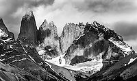 The three massive granite towers (the Torres del Paine) are one of the national parks most iconic vistas.