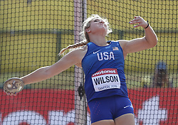 July 10, 2018 - Tampere, Suomi Finland - 180710 Friidrott, Junior-VM, Dag 1: Alyssa Wilson, USA competes in Discus Throw during the IAAF World U20 Championships day 1 at the Ratina stadion 10. July 2018 in Tampere, Finland. (Newspix24/Kalle Parkkinen) (Credit Image: © Kalle Parkkinen/Bildbyran via ZUMA Press)
