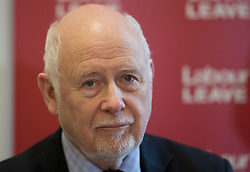 © Licensed to London News Pictures. 20/01/2016. London, UK.  Kelvin Hopkins MP helps to launch the Labour Party's 'Labour Leave' EU referendum campaign.  A referendum on the United Kingdom's membership of the European Union may be held as soon as this summer.  Photo credit: Peter Macdiarmid/LNP