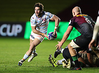 Maxime Machenaud of Racing 92Dejected Harlequins players after the 3rd Racing 92 Try