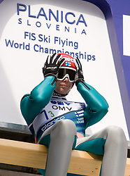 HAUTAMAEKI Matti, Puijon Hiihtoseura, FIN  competes during Flying Hill Team Trial Round at 4th day of FIS Ski Flying World Championships Planica 2010, on March 21, 2010, Planica, Slovenia.  (Photo by Vid Ponikvar / Sportida)