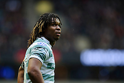 London Irish Winger (#11) Marland Yarde looks on during the first half of the match - Photo mandatory by-line: Rogan Thomson/JMP - Tel: Mobile: 07966 386802 29/12/2012 - SPORT - RUGBY - Twickenham Stadium - London. Harlequins v London Irish - Aviva Premiership - LV= Big Game 5.