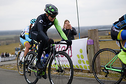 Holly Breck crests the VAMberg at Drentse 8 van Westerveld 2018 - a 142 km road race on March 9, 2018, in Dwingeloo, Netherlands. (Photo by Sean Robinson/Velofocus.com)