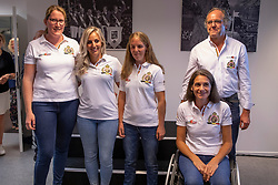 Team Para-Dressage, Claeys Manon, Minneci Barbara, Vermeulen Ciska, Van Looveren Eveline, Van Haegenborgh Walter (Chef d'Equipe)<br /> Team presentation for WEG Tryon 2018<br /> Zaventem 2018<br /> © Hippo Foto - Dirk Caremans<br /> 22/08/2018