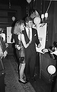 KIMBERLEY CAREY; ROB HERSOV, Snowball Bash, Au Bar, Manhattan. 23 January 1990,<br /> <br /> SUPPLIED FOR ONE-TIME USE ONLY> DO NOT ARCHIVE. © Copyright Photograph by Dafydd Jones 248 Clapham Rd.  London SW90PZ Tel 020 7820 0771 www.dafjones.com