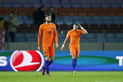 (L-R) Davy Propper of Holland, Karim Rekik of Holland during the FIFA World Cup 2018 qualifying match between Belarus and Netherlands on October 07, 2017 at Borisov Arena in Borisov,  Belarus