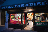 Saeed Pourkay, owner and chef of Taste of Persia, a small and unique food stall inside another restaurant called Pizza Paradise in New York.<br /> <br /> (Photo by Robert Caplin)