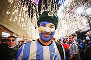 Ambiance Argentina fan at Nikolskaya Plaza during the 2018 FIFA World Cup Russia on June 13, 2018 in Moscow, Russia - Photo Thiago Bernardes / FramePhoto / ProSportsImages / DPPI