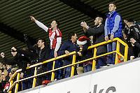 Middlesbrough fans enjoying the match<br /> <br /> Photographer Craig Mercer/CameraSport<br /> <br /> Football - The Football League Sky Bet Championship - Millwall v Middlesbrough - Saturday 6th December 2014 - The Den - London<br /> <br /> © CameraSport - 43 Linden Ave. Countesthorpe. Leicester. England. LE8 5PG - Tel: +44 (0) 116 277 4147 - admin@camerasport.com - www.camerasport.com