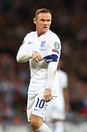 Wayne Rooney of England tugs at his captain's armband - England vs. Slovenia - UEFA Euro 2016 Qualifying - Wembley Stadium - London - 15/11/2014 Pic Philip Oldham/Sportimage