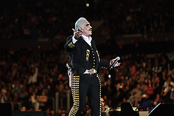 """Los Angeles, CA/USA (Sunday, March 24, 2013) -  The king of rancheras music and Mexican icon Vicente Fernandez kept his fans applauding, dancing and singing to classic rancheras such as: """"Volver y volver, me voy a quitar de en medio, si nos dejan, Mejico lindo, Guadalajara among others"""" on Sunday, March 24 at the Staples Center in Los Angeles, CA. Don Vicente, also known as """"Chente"""" performed for about two hours to a sold out performance.  PHOTO © Eduardo E. Silva/SILVEX.PHOTOSHELTER.COM."""