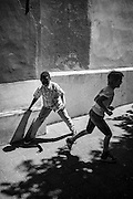 Composition of boys playing