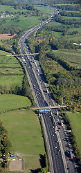 © under license to London News Pictures.  File picture dated 11/10/2010. M25 motorway near Junction 6 with the A22 in Surrey . The M25 will tomorrow (29/10/2011) be 25 years old. 117-mile London Orbital motorway was opened by then Prime Minister Margaret Thatcher on October 29, 1986. Photo credit: London News Pictures.