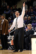 Baylor head coach Scott Drew argues a call against the Bears, during the second half against Kansas State at Bramlage Coliseum in Manhattan, Kansas, January 17, 2007.  K-State beat Baylor 69-60.