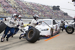 June 10, 2018 - Brooklyn, Michigan, U.S - NASCAR driver BRAD KESELOWSKI (2) comes in for a pit stop during the 50th Annual FireKeepers Casino 400 at Michigan International Speedway. (Credit Image: © Scott Mapes via ZUMA Wire)