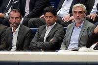 Jean Claude Blanc / Nasser Al Khelaifi - 28.05.2015 - PSG / Saint Raphael - 25eme journee de D1<br />Photo : Andre Ferreira / Icon Sport