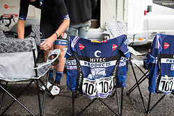 Hitec Products Cycling Team radios are ready for the Prudential Ride London Classique - a 66 km road race, starting and finishing in London on July 29, 2017, in London, United Kingdom. (Photo by Balint Hamvas/Velofocus.com)