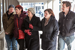 © Licensed to London News Pictures . 26/03/2013 . Manchester , UK . Relatives of Michael and Hilary Brewer arrive at Manchester Crown Court this morning (26th March 2013) for the sentencing of Michael and Hilary Brewer following their convictions for indecent assault on 8th February . Photo credit : Joel Goodman/LNP