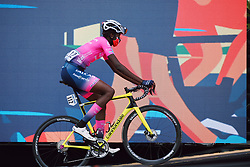 Teniel Campbell (TTO) at the 2020 La Course By Le Tour with FDJ, a 96 km road race in Nice, France on August 29, 2020. Photo by Sean Robinson/velofocus.com