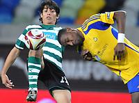 20091105: LISBON, PORTUGAL - Sporting Lisbon vs Ventspils: Europa League 2009/2010 - Group Stage. In picture: Matias Fernandez (SPO, L). PHOTO: Alexandre Pona/CITYFILES