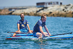 "Manchester United star Juan Mata proved he's a turf and surf kind of guy as he demonstrated his paddle boarding prowess in Los Angeles. The 30-year-old midfielder and fellow players Ander Herrera and Scott McTominay took time off the pitch during the team's USA summer tour to attend an event in collaboration with Parley For The Oceans and Adidas to raise awareness about the threat of ocean plastic to the environment. The event — which took place in a boat docked in the harbor in Los Angele's beachside community Marina Del Rey on July 27 — featured talks by the Founder of Parley for the Oceans, Cyrill Gutsch, Parley and Adidas staff members and Big Wave Surfer & Parley Ambassador Greg Long. Mata, Herrera and McTominay were joined in the audience by members of the adidas Tango Squad – the innovative global football community. The event also saw the United stars enjoy what the ocean has to offer as they took to the water to try their hands at paddle boarding, guided by Big Wave Surfer Greg Long. Mata said: ""When Adidas first introduced the Manchester United jersey Parley Ocean Plastic® I was unaware of the scale of the issue. Fans worldwide should know that this jersey is one step in the right direction, but we still have loads to do."" Ander Herrera added: ""By taking time to understand the problem, we hope that we can use our influence to help educate the world to the scale of the issue and although we can all do more and we must, this initiative is a step in the right direction."" And Scott McTominay said: ""It's great to be part of the Parley relationship and for our kit to use Parley Ocean Plastic®, however, I also believe that we all need to do more. I've been shocked into doing more personally and everyone should also look at steps they can take to help this situation."" Cyrill Gutsch, Founder of Parley for the Oceans said: ""Winning Manchester United as Parley supporters is like adding eighteen thousands times the size of the British Roy"